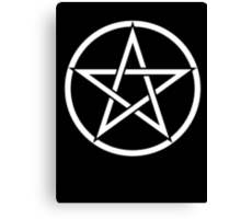 Pentacle, modern Pagan, WICCA, Witchcraft, religion. Canvas Print