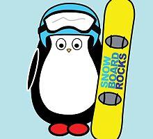 Hugo snowboarding by danicorbett