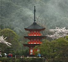 Pagoda In The Mist by phil decocco