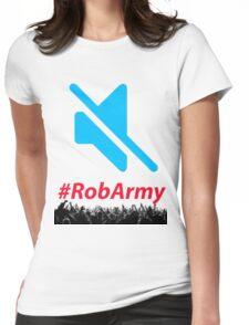 Mute Symbol RobARMY  Womens Fitted T-Shirt