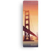 """Golden Gate"" Watercolor Canvas Print"