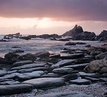 Sunset over Rockham Bay by John Burtoft