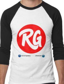 RG Logo Original Red With Social Links  Men's Baseball ¾ T-Shirt
