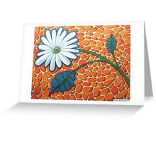 256 - FLORAL DESIGN - 04 - DAVE EDWARDS - ACRYLIC & INK - 2009 Greeting Card