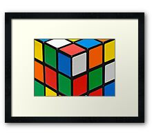 Colourful Cubes Framed Print