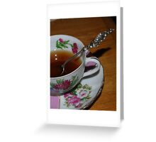 Vintage cup and saucer Greeting Card