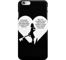 Kingdom hearts sora quote iPhone Case/Skin