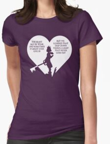 Kingdom hearts sora quote Womens Fitted T-Shirt
