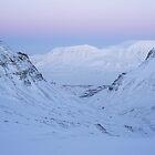 Winter day in Longyearbyen by Algot Kristoffer Peterson