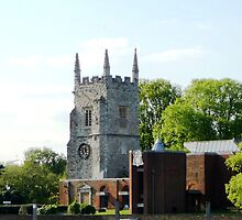 Church by the River Thames by Braedene