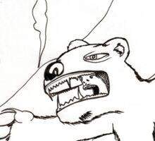 """""""Polar bear man"""" Sticker"""