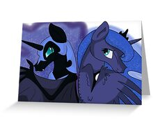 Princess Luna & Nightmare Moon Greeting Card