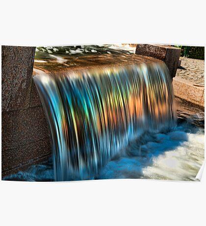 Rainbow Waterfall Poster