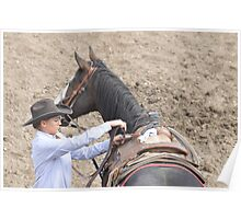 Some Cowboys are Girls, Montana cowgirl photo Poster
