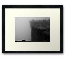 Pulpit Rock Mist Framed Print