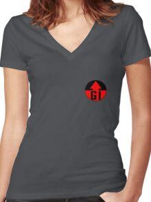 Genetic Infantry Badge Women's Fitted V-Neck T-Shirt