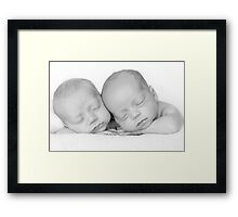Twins... the fraternal kind ;-) Framed Print