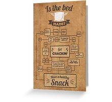 Is The Bed Made? Greeting Card
