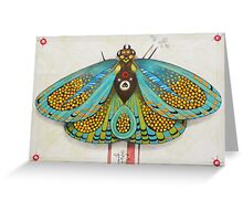 psychedelic butterfly  (original sold) Greeting Card