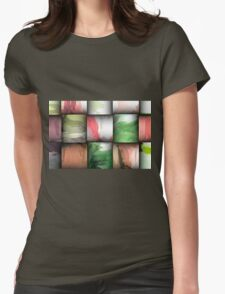 Blocks Abstract Womens Fitted T-Shirt