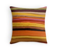 Pashminas in a Market stall in Soller, Mallorca Throw Pillow