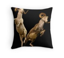 Leaping Rams Throw Pillow