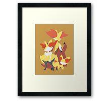 Fennekin Evolution Framed Print