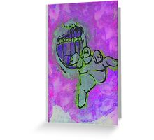Zombie Screen Print Greeting Card