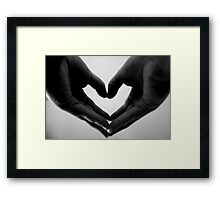Holding my heart in my hands Framed Print