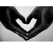 Holding my heart in my hands Photographic Print
