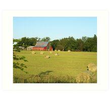 Hay Field in the Ozarks Art Print