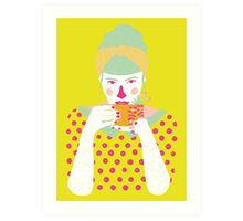 a cup of tea a day Art Print