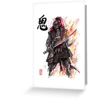 Ganondorf from Zelda game series with Japanese Calligraphy Greeting Card