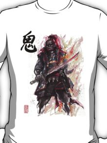 Ganondorf from Zelda game series with Japanese Calligraphy T-Shirt