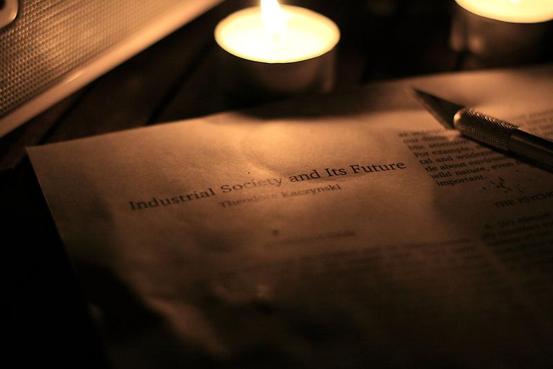 Evening light reading - Ted Kaczynski and Society by MacLeod