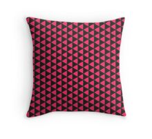 Black and Pink Triangle Pattern Throw Pillow