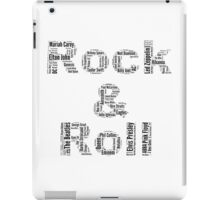 Rock & Roll Word Cloud iPad Case/Skin
