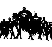 Justice League Silhouette  by iankingart