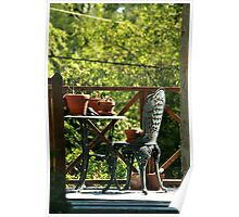 Backyard Chair And Table Poster