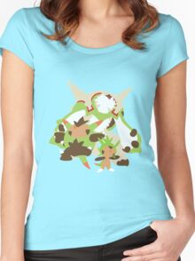 Chespin Evolution Women's Fitted Scoop T-Shirt