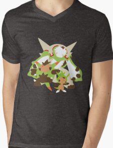 Chespin Evolution Mens V-Neck T-Shirt