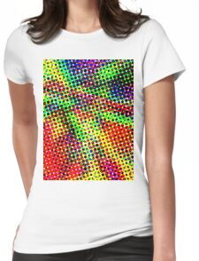 Trippy Half Tone Womens Fitted T-Shirt