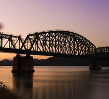 Hawkesbury River Train Bridge by axiomstatic