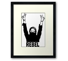 Rebel Girl Framed Print