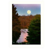 """Moon Over Rough River"" Art Print"