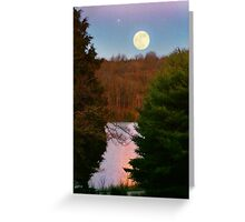 """""""Moon Over Rough River"""" Greeting Card"""