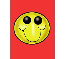 Goofy Smiley face Cartoon Photographic Print