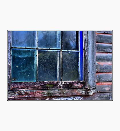 Half Window Colors in an Abandoned Building Photographic Print