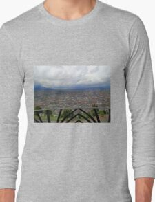 View of Quito From The Virgen - Painting Long Sleeve T-Shirt