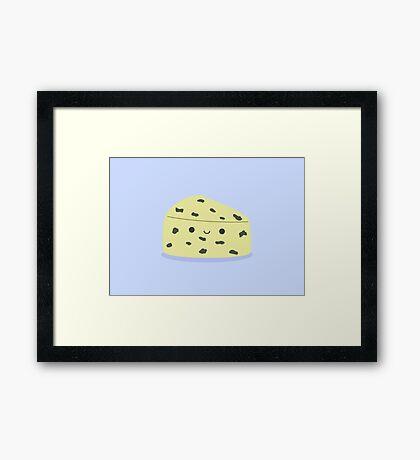 Cute stinky cheese Framed Print